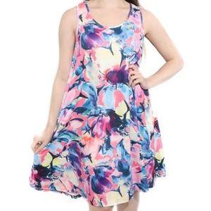 Pink & Blue Floral Sleeveless Dress NWT